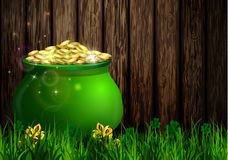St. Patrick s Day symbol green pot Royalty Free Stock Photography