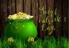 St. Patrick s Day symbol green pot Stock Photo