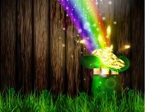 St. Patrick s Day symbol green pot Stock Images