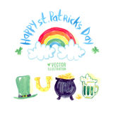 St. Patrick's day symbol set Royalty Free Stock Photo