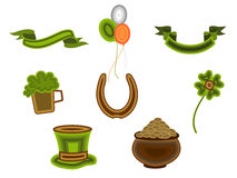 St.Patrick's Day symbols.Vector illustration. Stock Photo