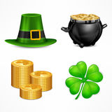 St. Patrick. S Day symbols on white Royalty Free Stock Images