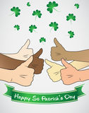 St patricks day thumbs up Royalty Free Stock Photography