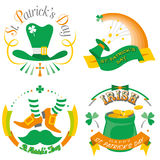 St. Patrick`s Day. Typography illustration Stock Images