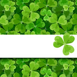 St. Patricks day vector card with shamrock. Royalty Free Stock Photo