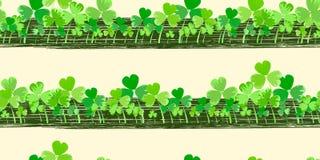 St. Patrick`s day vector horizontal background royalty free illustration