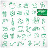 St. Patrick's Day Vector Icons Stock Photo