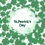 St. Patrick s day vector seamless background. Vector Illustration of a St. Patrick`s Day Background. Seamless pattern with clover leaves vector illustration