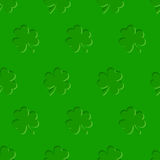 St. Patricks day vector seamless background with shamrock. Stock Image