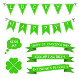 St. Patrick's Day vector set Royalty Free Stock Image