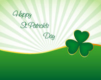 St. Patrick's day wallpaper. With shamrock Royalty Free Stock Photography