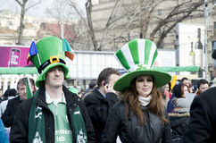Saint Patrick's Day in Bucharest Stock Photos
