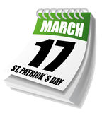 St. Patrick's Days calendar Royalty Free Stock Image
