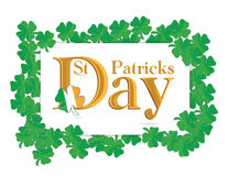 St. Patrick's Days design. Over a white background Royalty Free Stock Photography