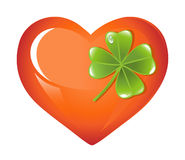 St. Patrick's Days Heart Stock Images