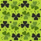 St Patrick `s de Achtergrond van de Dag Ontwerp met klaver Royalty-vrije Stock Foto's