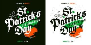 St Patrick ` s de affiche van de Dagviering Stock Fotografie