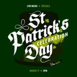 St Patrick ` s de affiche van de Dagviering Royalty-vrije Stock Afbeelding