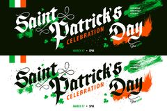 St Patrick ` s de banner van de Dagviering Stock Afbeelding