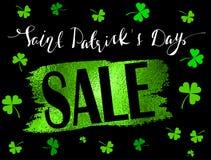 St Patrick s de Banner van de Dagverkoop Stock Afbeeldingen