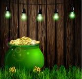 St Patrick s de groene pot van het Dagsymbool Royalty-vrije Stock Afbeelding
