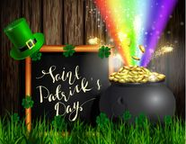 St Patrick s de groene pot van het Dagsymbool Royalty-vrije Stock Afbeeldingen