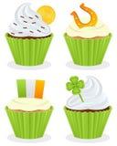 St. Patrick s de Inzameling van Dagcupcakes Stock Afbeelding