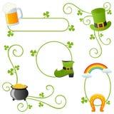 St. Patrick s dnia granicy Zdjęcia Royalty Free