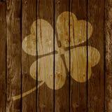 St Patrick ` s dnia karta na Drewnianym tle lub tło Obraz Royalty Free