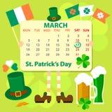 St Patrick ` s dnia przedmioty również zwrócić corel ilustracji wektora ilustracji