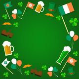 St Patrick ` s dnia przedmioty również zwrócić corel ilustracji wektora ilustracja wektor