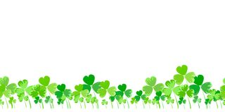 St Patrick ` s dnia wektorowy horyzontalny tło ilustracja wektor
