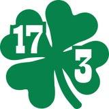 St Patrick ` s dzień Marzec 17th z koniczyną ilustracja wektor