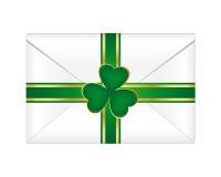 St. Patrick's envelope. With shamrock Royalty Free Stock Photo