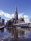 St. Patrick's exterior. St. Patrick's cathedral in Melbourne is one of the largest neo gothic cathedrals in the world Royalty Free Stock Photography