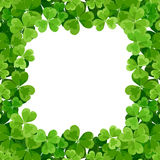 St. Patricks frame with shamrock. Royalty Free Stock Photo