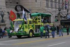 St Patrick ` s groene de Brandmotor van de Dagparade 2017 zeer stock afbeelding