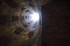 St- Patrick` s gut, Orvieto, Italien Historischer Brunnen Großes enginee stockfoto