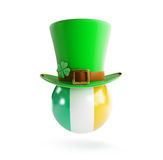 St. Patrick's hat flag of Ireland Royalty Free Stock Image