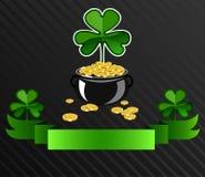 St Patrick ` s het ontwerp van de Dagaffiche Stock Afbeelding