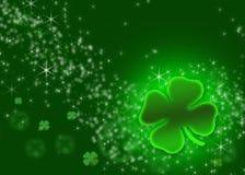 St. Patrick's Illustration - shamrock Explosion Royalty Free Stock Photos
