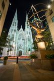 St Patrick s Kathedraal in de Stad van New York Stock Foto