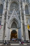 St Patrick ` s Kathedraal in New York Stock Foto's