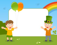 St. Patrick s Kids Photo Frame Stock Images