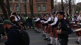 St. Patrick's parade stock video
