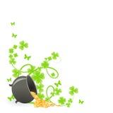 St. Patrick's pattern corner Royalty Free Stock Image