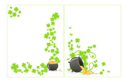 St. Patrick's pattern corner Stock Images