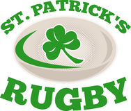 St. patricks rugby ball shamrock Stock Photos