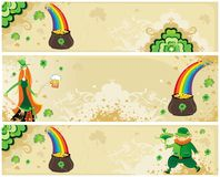 St Patrick's set of  banners Royalty Free Stock Image