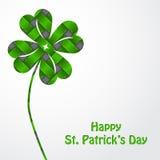St Patrick's shamrock on green texture Stock Photo